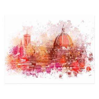 Florenz - Basilika von Heiliger Mary der Blume Postkarte