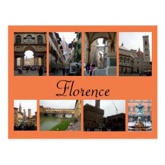 Florenz-Collage Postkarte