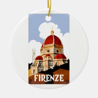 Florenz Italien Duomo-Reise-Plakat 1930 Keramik Ornament