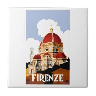 Florenz Italien Duomo-Reise-Plakat 1930 Keramikfliese