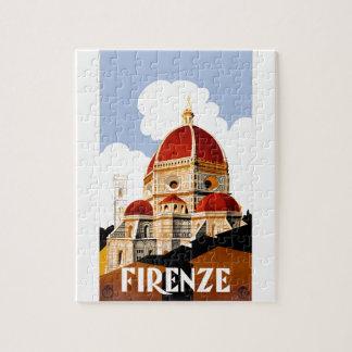 Florenz Italien Duomo-Reise-Plakat 1930 Puzzle