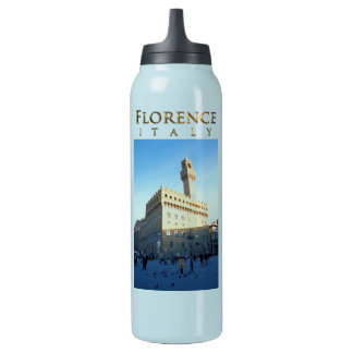 Florenz, Italien - Marktplatz della Signoria Isolierte Flasche
