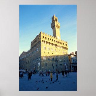 Florenz, Italien (Marktplatz della Signoria) Poster
