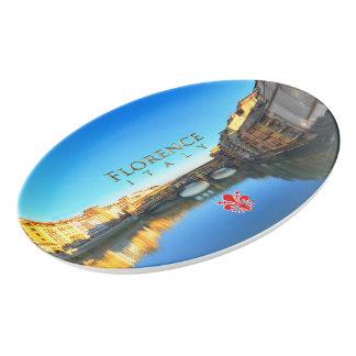 Florenz, Italien - Ponte Vecchio Porzellan Servierplatte