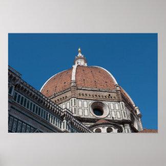 Florenz oder Firenze Italien Duomo Poster