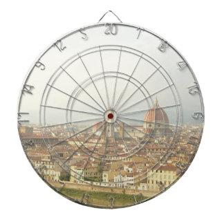 Florenz- oder Firenzeitalien Stadtbild Dartscheibe