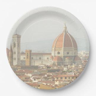 Florenz- oder Firenzeitalien Stadtbild Pappteller