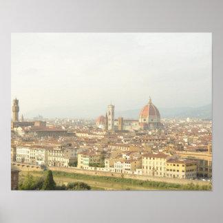 Florenz- oder Firenzeitalien Stadtbild Poster