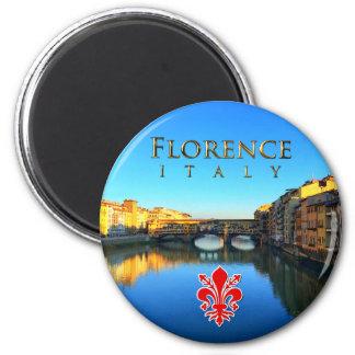 Florenz - Ponte Vecchio Runder Magnet 5,7 Cm