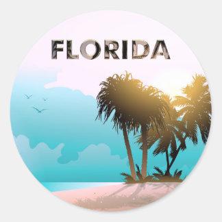 Florida Runder Aufkleber