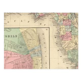 Florida, bewegliche Karte durch Mitchell Postkarte