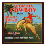 Florida-Cowboy Poster