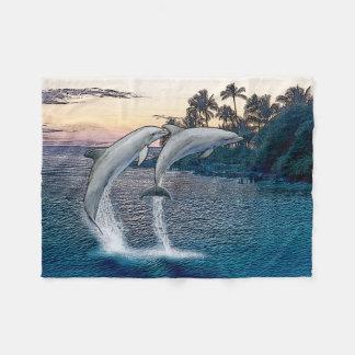 Florida-Delphin-Fleece-Decke Fleecedecke