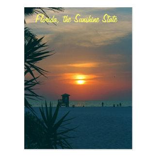 Florida der Sonnenschein-Staat Postkarte