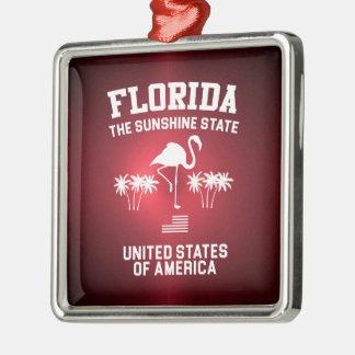 Florida der Sonnenschein-Staat Silbernes Ornament