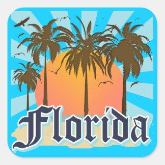 Florida der Sonnenschein-Staat USA Quadrat-Aufkleber