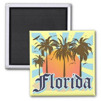 Florida der Sonnenschein-Staat USA Quadratischer Magnet
