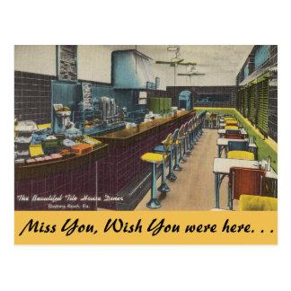 Florida, Fliesen-Haus-Restaurant, Daytona Beach Postkarte