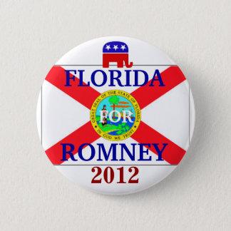 Florida für Romney 2012 Runder Button 5,1 Cm