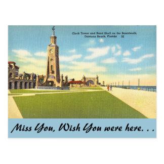 Florida, Glockenturm, Daytona Beach Postkarten