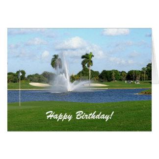 Florida-Golfplatz-kundenspezifische Grußkarte