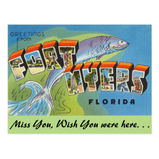 Florida, Grüße von Fort Myers Postkarte