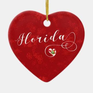 Florida-Herz, Weihnachtsbaum-Verzierung, Florida Keramik Ornament
