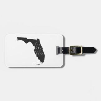 Florida I mag es hier Staats-Silhouette-Schwarzes Gepäckanhänger