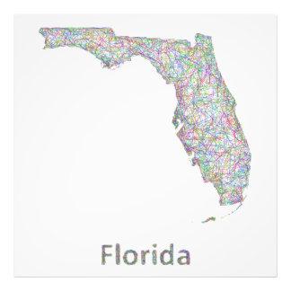 Florida-Karte Photographischer Druck