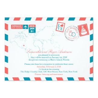 Florida-Luftpost-Posten-Hochzeits-Empfang 12,7 X 17,8 Cm Einladungskarte