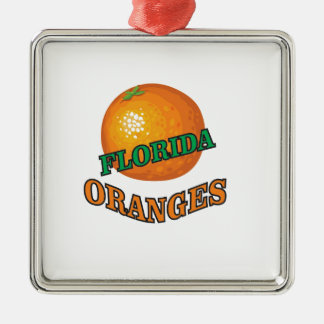 Florida-Orangen Silbernes Ornament