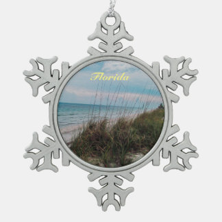 Florida-Ozean-Strand-Seiten-Verzierung Schneeflocken Zinn-Ornament
