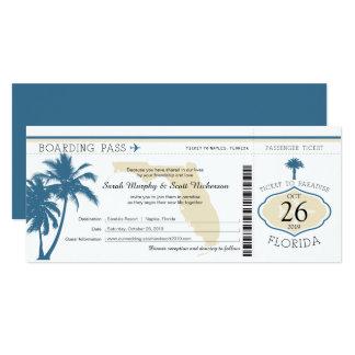 Florida-Palme-Boarding-Durchlauf-Hochzeit Karte
