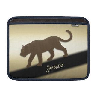 Florida-Panther auf dem Gold persönlich MacBook Air Sleeve