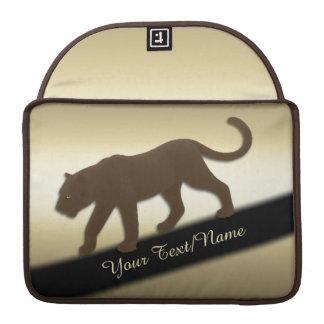 Florida-Panther auf dem Gold persönlich MacBook Pro Sleeve