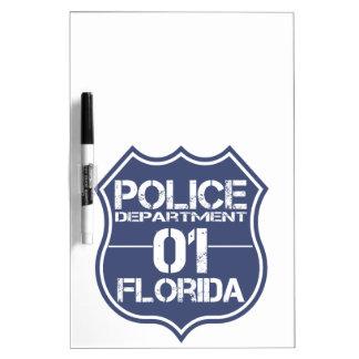 Florida-Polizeidienststelle-Schild 01 Memoboard