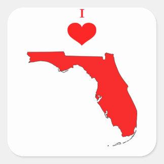 Florida Quadratischer Aufkleber
