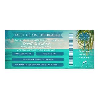 Florida-Schlüssel auf dem 10,2 X 23,5 Cm Einladungskarte