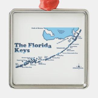 Florida-Schlüssel Silbernes Ornament