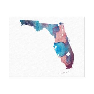 Florida-Silhouette Leinwanddruck
