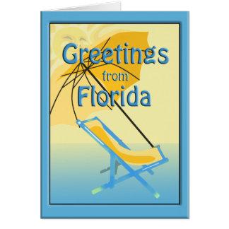 Florida-Sonnenschein-Gruß-Karte Karte