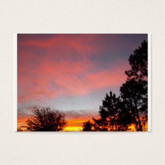 Florida-Sonnenuntergang Jumbo-Visitenkarten