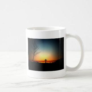 Florida-Sonnenuntergang mit Kreuz Tasse