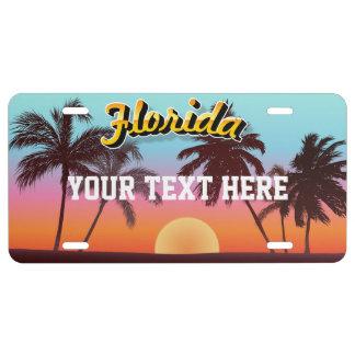 Florida-Sonnenuntergang US Nummernschild