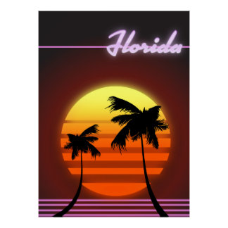 Florida-Sonnenuntergangplakat 1984 Poster