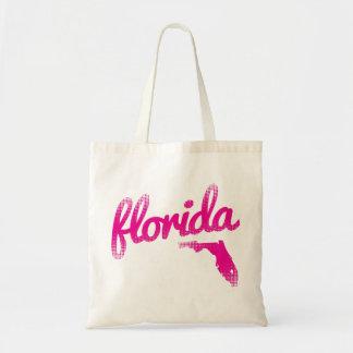 Florida-Staat im Rosa Budget Stoffbeutel