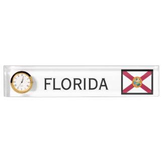 Florida-Staats-Flaggen-Schreibtisch-Uhr durch Janz
