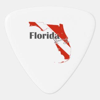 Florida-Staats-Silhouette-Tauchflagge mit Text Plektrum