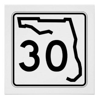 Florida-Staats-Weg 30 Poster