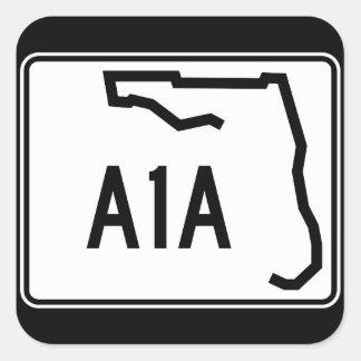 Florida-Staats-Weg A1A Quadratischer Aufkleber